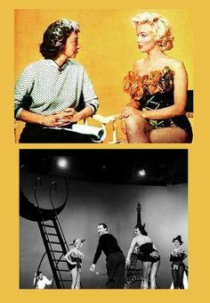 """1953 """"caballeros las prefieren rubias"""" (caballeros las prefieren rubias) Howard Hawks (fotos de Marilyn que recibieron el premio """"de la revista Photoplay"""", mientras que el…"""