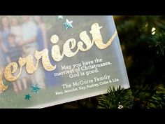 VIDEO: Sending Merry Wishes – Vellum Photo Card | Jennifer McGuire Ink