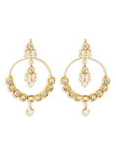 Sunny Indian Bollywood Gold Plated Blue Kundan Meenakari Earring Women Wedding Jewelr Soft And Light Jewellery & Watches Costume Jewellery