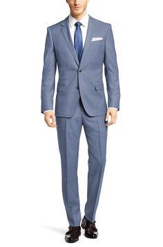 BOSS 'Hutson/Gander' | Slim Fit, Super 100 Italian Virgin Wool Suit Light Blue free shipping