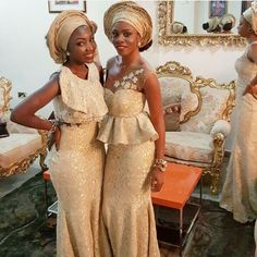 Aso-Ebi is one of those factors that makes the Nigerian weddings lit! You will agree with me that how you present yourself determines how you would be addressed, and of… African Lace, African Wear, African Attire, African Dresses For Women, African Women, Beige Suits Wedding, Afro, Nigerian Dress, Style Africain