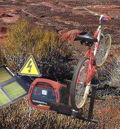Pedal Power Bicycle Generator Alternative Green Human Power Energy