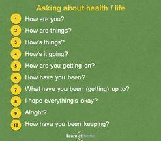 Как спросить о здоровье по-английски. В закладки! #английскийдома #learnenglish