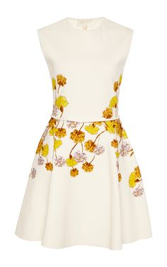Belted Floral Print Flare Dress by Giambattista Valli Now Available on Moda Operandi