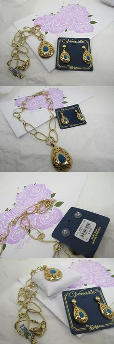 Jewelry Sets 50692: Brighton Jupiter Set Necklace And Earrings, Gold Blue $156 -> BUY IT NOW ONLY: $62.46 on eBay!