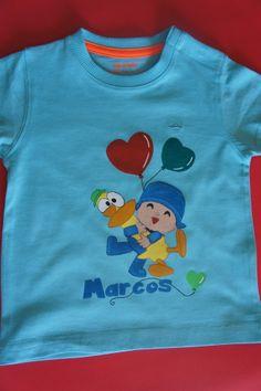 Marcos es un fiel seguidor de Pocoyó. Por ello hemos querido sorprenderle en su cumpleaños con esta preciosa camiseta. Muchas Felicidades!!!