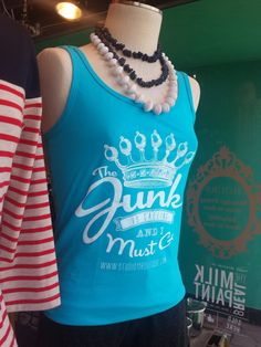 The Junk is Calling ....... Turquoise TANK top by whattawaist