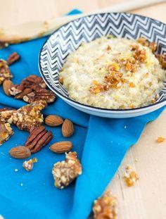 Milchquinoa mit Orangen-Nuss-Karamell. Leckere Alternative zu Milchreis. Quinoa Pudding, recipe also in english! www.einepriselecker.de