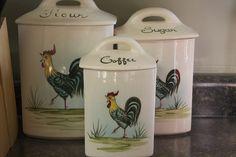 Vintage Rooster Canister Set