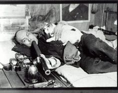 This photograph of a Chinese man smoking opium with his cat in San Francisco (1950's) became a best-selling souvenir postcard of that city.