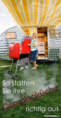 Kombi-Grill, Induktionsplatte oder doch nur ein einfacher Gaskocher? Wie die Küche im Campingurlaub ausgestattet ist, hängt natürlich von der Art des Campens ab – wir verraten, was welcher Typ benötigt.
