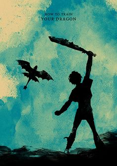 How To Train Your Dragon -Created byMoonPoster Available for sale onEtsy.