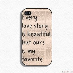 Iphone 4 Case  Our Story Iphone Case for Iphone 4 by fundakcases, $16.00