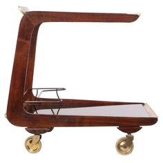 Cantilever Serving Cart by Carl Aubock 1