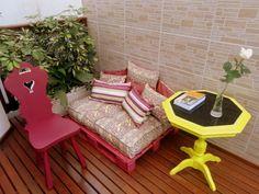 Palettenmöbel selber bauen sitzecke balkon sofa