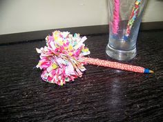 Alternative to the duct tape flower pens Meghan's been making for her friends
