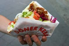 """Our favorite """"fast food"""" while in Germany was a Turkish-German treat, the Doner Kebab. There is nothing in America that truly is like it, y. Shawarma, Turkish Doner, Turkish Kebab, Doner Kebabs, Turkish Recipes, International Recipes, The Fresh, Foodies, Food Porn"""