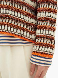 Knitwear Fashion, Knit Fashion, Knitted Fabric, Knit Crochet, Knitting Stiches, Knit Picks, Fabric Manipulation, Loewe, Textiles