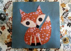 Love this cute, quilted fox top. I think it would make a nice pillow for Clara's room.