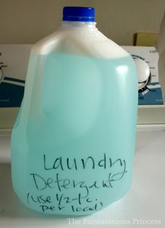 Easy Homemade Liquid Laundry Detergent :: no boiling or soap grating involved!