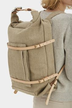 U-tility Backpack Raw Natural - this is paper