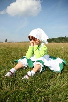 Hetalia (by Shiro-Kuro Gang) by ShiroKuroGang.deviantart.com on @deviantART - Little Feliciano cosplay, uploaded by the photographer. And, yes, this IS an actual child in cosplay!