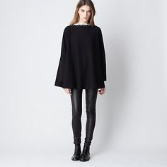 convertible poncho! it becomes a open-front cardigan too! Daryl K for Steven Alan