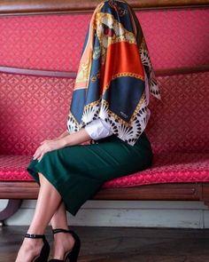 Arab Girls Hijab, Girl Hijab, Neck Scarves, Fashion Accessories, Kimono Top, Satin, Women's Fashion, Silk, Skirts