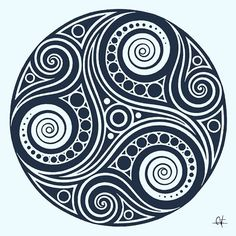 Según la #cultura #celta, el #triskelion representa la #evolución y el #crecimiento, el equilibrio entre #cuerpo, #mente y #espíritu. Manifiesta el principio y el fin, la eterna #evolución y el #aprendizaje perpetuo. Entre losdruidas simbolizaba el aprendizaje, y la trinidad #Pasado,#Presentey#Futuro