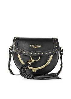 95429b5e28e5 Black Leather Crossbody Bag