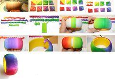 Rainbow pulsera con sus propias manos