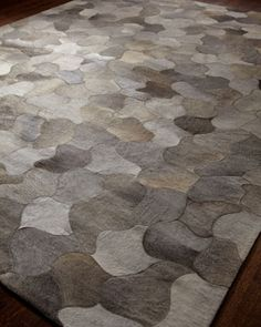 """""""Meteor"""" Rug at Horchow. Great texture and gray/tan colors for house. Would put in family room under sofa or  under formal dining (won't get ruined b/c it won't be used much)"""