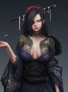 The spirit of the samurai photography Fantasy Girl, Chica Fantasy, Fantasy Warrior, Fantasy Women, Dark Fantasy Art, Fantasy Artwork, Female Character Design, Character Art, Character Concept