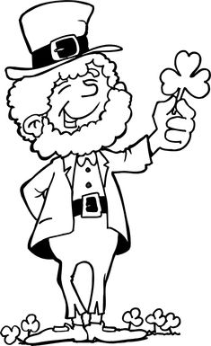 Printable st patricks day leprechaun coloring pages for kids. Print out st patricks day leprechaun coloring pages for preschool.free clipart st patricks day leprechaun for kids Desserts Valentinstag, St Patricks Day Crafts For Kids, St Patrick's Day Crafts, Kids Crafts, San Patrick, New 52, Free Printable Coloring Pages, Coloring Book Pages, Kunst
