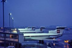 BEA Tridents at Heathrow Photo taken in winter 1968/9, when security was much less of an issue.  I'm not certain of the grid reference, or e...