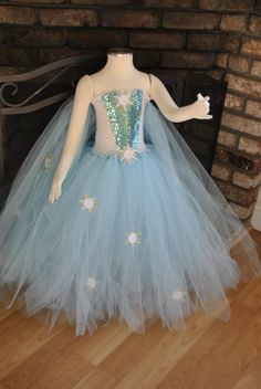 Queen Elsa Frozen Inspired Winter by OurSweetSomethings4U on Etsy, $55.00