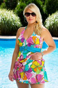 Plus Size Swimwear Always For Me Chic Prints Floreana Underwire Tankini