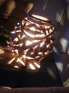 Holzlampe  selfmade