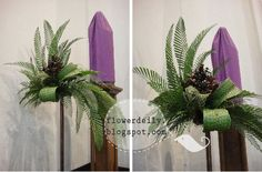 palm sunday altar decoration | palm arrangements