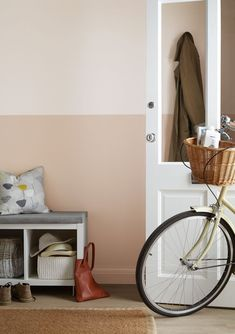 Hallway Decorating 759278818416897767 - Hallway paint colours: 28 inspiring decorating ideas for enhancing your hallway – Find inspiration for hallway paint colours that are fresh, inviting and create a great first impres – Source by Hallway Colour Schemes, Hallway Paint Colors, Paint Color Schemes, Pink Hallway, Hallway Walls, Upstairs Hallway, Hall Colour, Half Painted Walls, Hall Painting