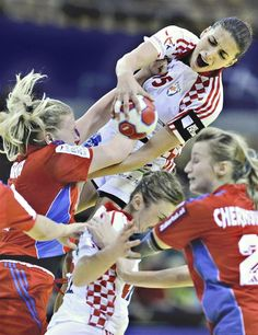 Russia vs Croatia European Womens Handball Championship