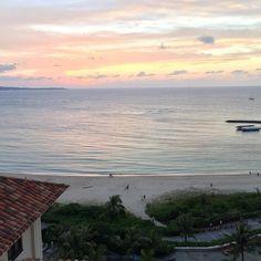 また行きたいものです #okinawa #sunset #hotel #沖縄 #夕焼け #ホテル
