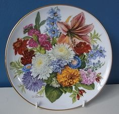 LOVELY HUTSCHENREUTHER LIMITED EDITION PLATE \ AUTUMN COLOURS\  By URSULA BAND   eBay & LOVELY HUTSCHENREUTHER LIMITED EDITION PLATE \