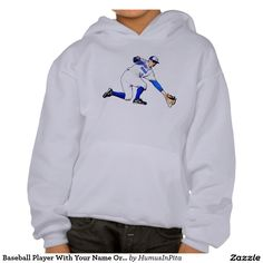Baseball Player With Your Name Or Monogram Hoody