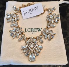 J.Crew FACTORY ORNATE CRYSTAL NECKLACE! Sold Out!  New$54.50 With J.Crew Bag! #JCrew