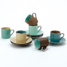 Birch Cup & Saucer Set 2.5oz by  Yedi Houseware