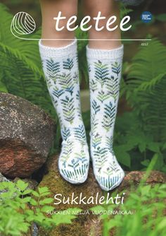 teetee Sukkalehti Fair Isle Knitting, Knitting Socks, Knitting Needles, Hand Knitting, Crochet Slippers, Knit Crochet, Boot Toppers, Thigh High Socks, How To Start Knitting