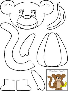 "Monkey- templates Going to use this to make the game ""Pin the tail on the Monkey"" for Chinese New Year"