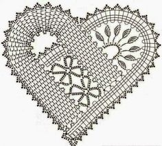 schema na hackovane srdiecko flanderska cipka bruges lace crochet heart Débardeurs Au Crochet, Crochet Motifs, Crochet Flower Patterns, Doily Patterns, Crochet Chart, Crochet Squares, Heart Patterns, Thread Crochet, Irish Crochet