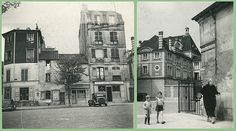 "St. Maur before Tati Place d'Armes / rue des Tournelles: the inspiration for the ""Monsieur Hulot"" house in St Maur-des-Fossés, Paris, where Jacques Tati filmed segments of ""Mon Oncle"" (1958)."